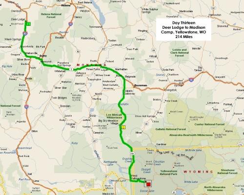 Day Thirteen Route