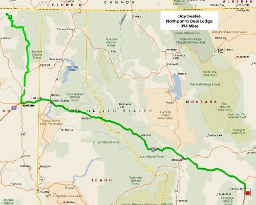Day Twelve Route