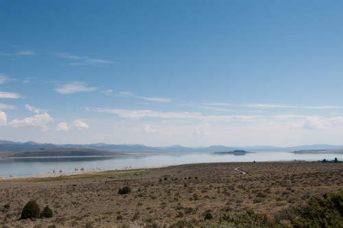Back over my shoulder at Mono Lake
